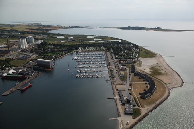 Luftfoto fra nord