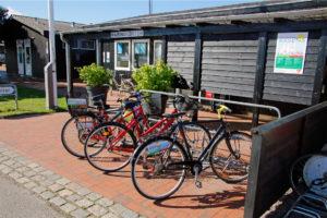 Marinakontor med cykler